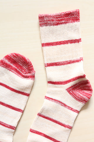 Red Stripe Socks