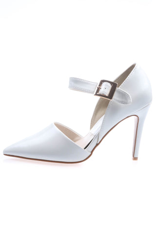 Shalex Pointed Heeled Shoes - White