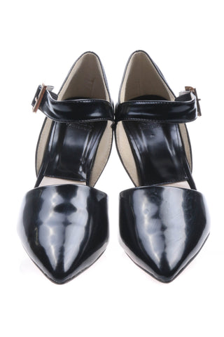 Shalex Pointed Heeled Shoes - Black