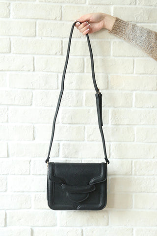 Flapover Shoulder Bag - Black
