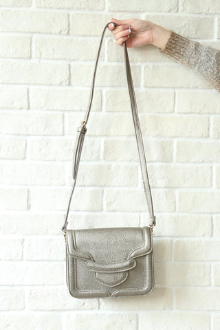 Flapover Shoulder Bag - Gold