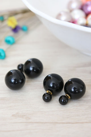 Double Candy Earrings - Black