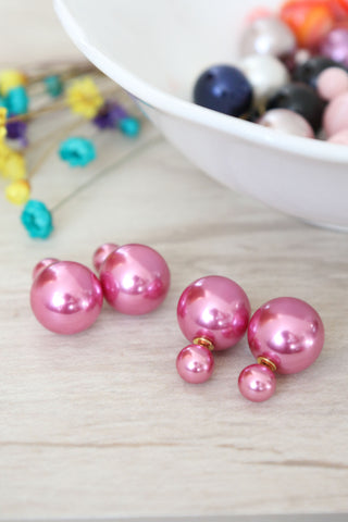 Double Candy Earrings - Pink