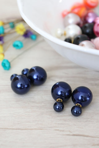 Double Candy Earrings - Blue