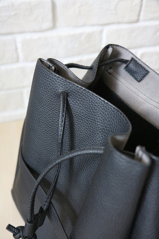 Black Flap Over Backpack