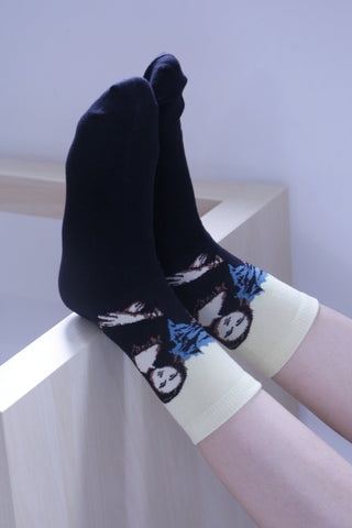 Mona Lisa Print Socks