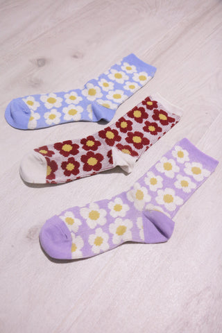 Floral Socks - Purple