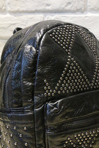 Studded Mini Backpack - Black
