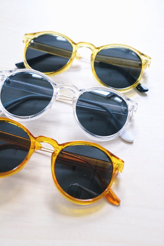 Shalex Round Sunglasses - Yellow