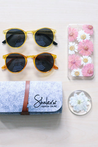 Shalex Round Sunglasses - Orange