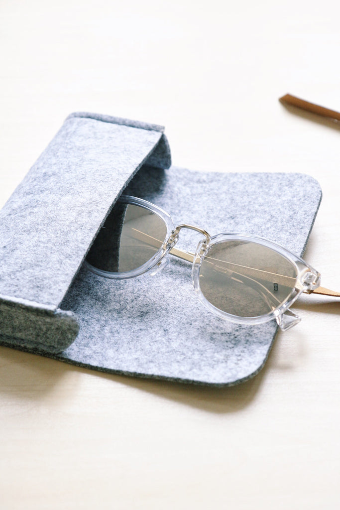 Round Mirror Sunglasses - Clear