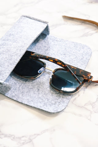 Tortoise Mirrored Square Sunglasses