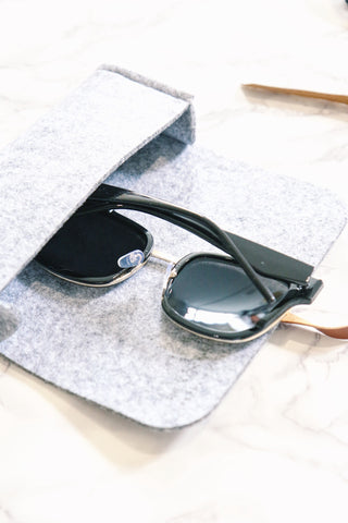 Black Mirrored Square Sunglasses