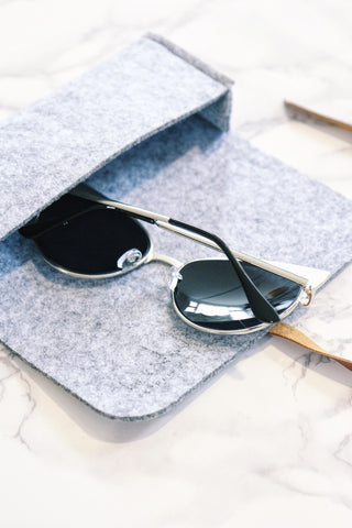 Metal Cat-Eye Sunglasses - Black