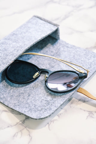 Gold Wood-Look Sunglasses