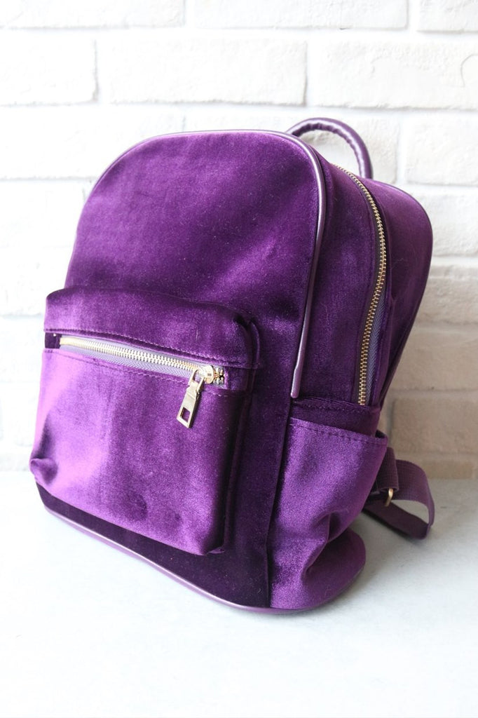 Velvet Backpack - Purple