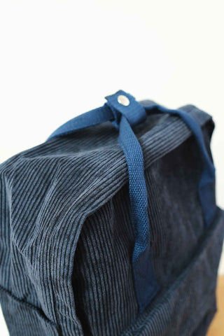 Shalex Corduroy Backpack - Dark Blue