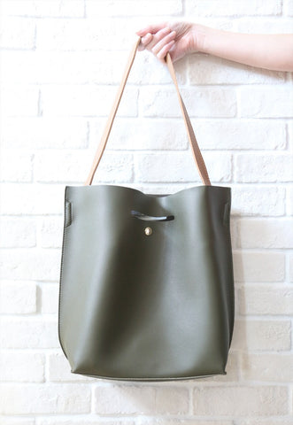 Two-Way Shopper Bag - Green
