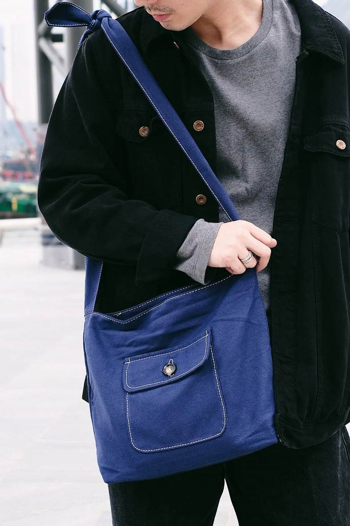 Button Shoulder Bag Tote Bag