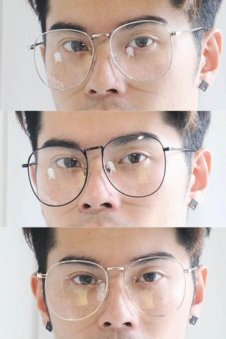 Oversized Metal Glasses - Silver