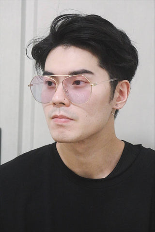 Flat Brow Oversized Sunglasses - Gradient lenses