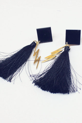 Tassel Lightning Bolt Earrings
