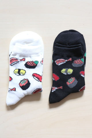 I'm Hungry Sushi Socks - Black