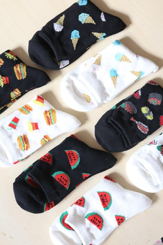 I'm Hungry Ice Cream Socks - Black