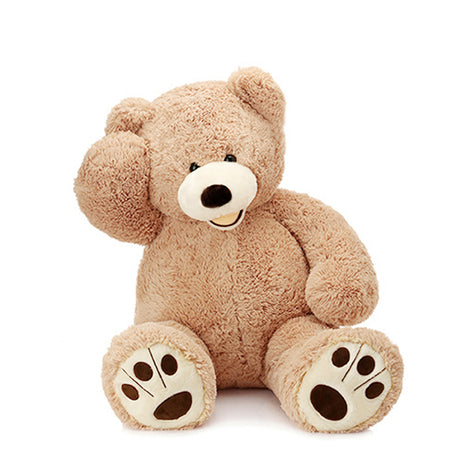 130CM//Giant MorisMos Teddy Bear with Big Footprints Plush COVER ONLY Light Brown