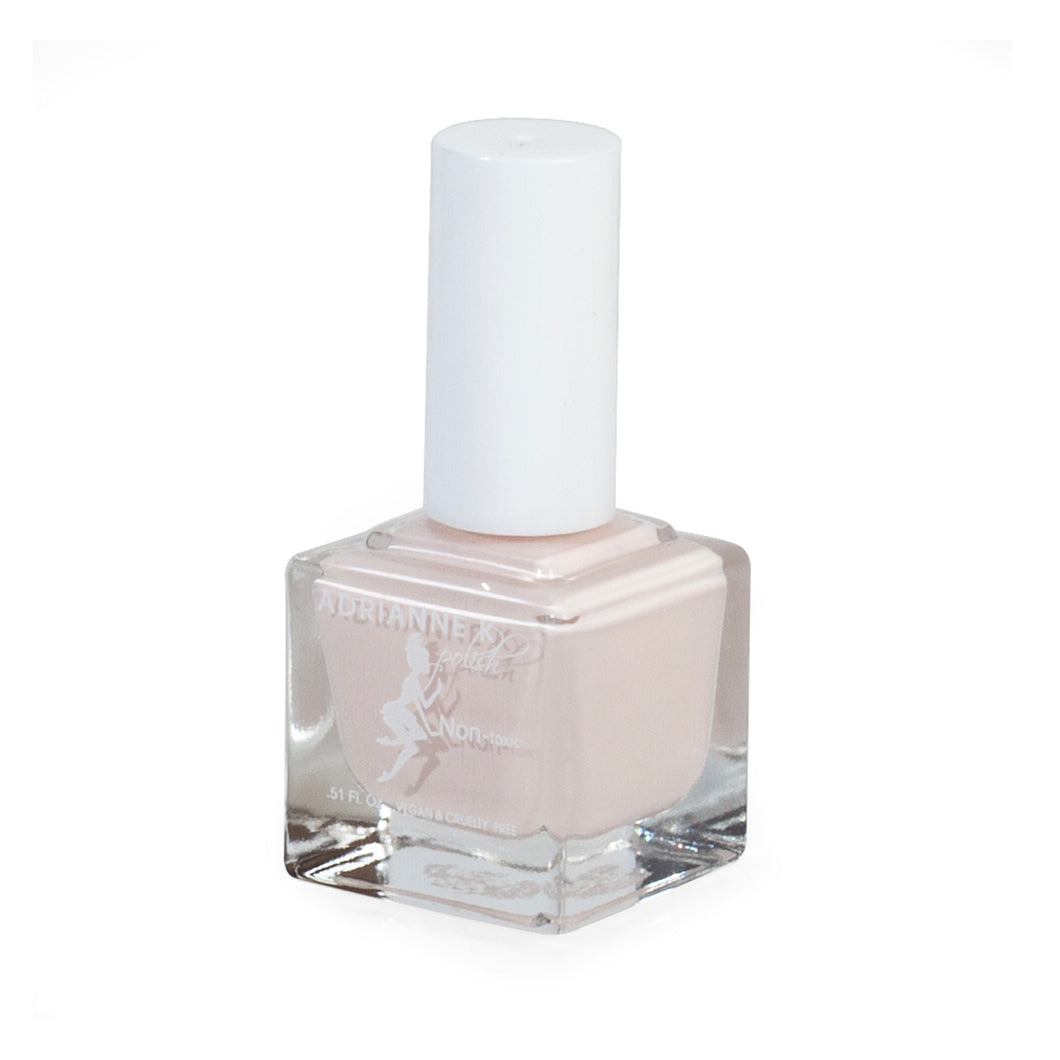 GRACE! GLOSSY OPAQUE WHITE/PINK NAIL POLISH, .51 FL OZ. QUICK DRY. 10 FREE. VEGAN
