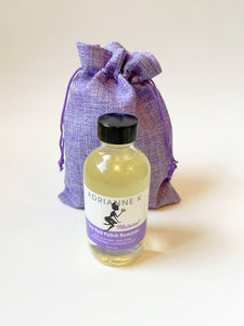 ADRIANNE K Soy+Lavender Nail Polish Remover, Natural & 100% Effective, 4 fl oz (118 mL) Non-acetone. Non-acetate. Vegan