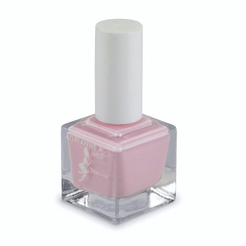 TEASE! OPAQUE, GLOSSY SOFT PINK NAIL POLISH, .51 FL OZ. QUICK DRY. NONTOXIC, SAFER FOR PREGNANCY.