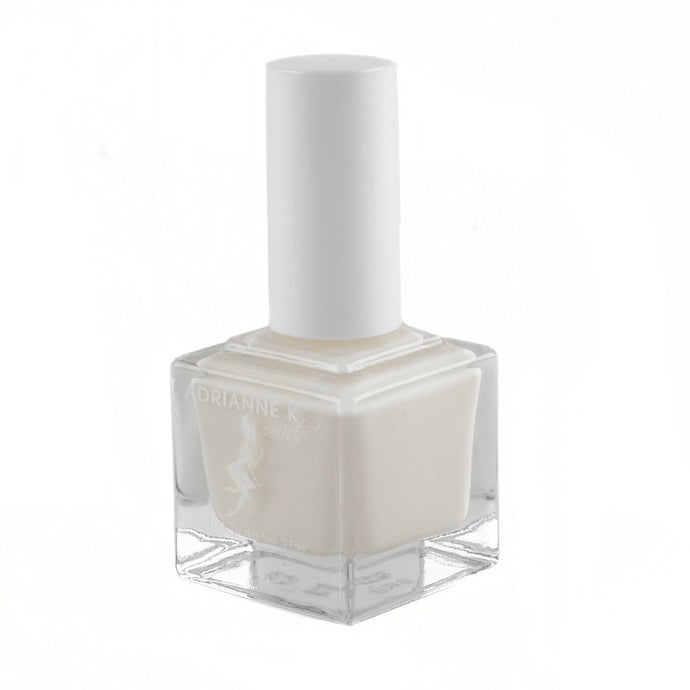 ADRIANNE K Shiny Sheer Milky White Nail Polish, Angelica! .51 fl oz. Quick Dry. Glossy. Gel Effect