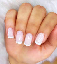 Load image into Gallery viewer, WHITE LACE! GLOSSY OPAQUE FRENCH MANICURE WHITE NAIL POLISH, NONTOXIC, 10 FREE, .51 FL OZ