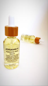 ADRIANNE K Hyaluronic Acid Serum. Anti Aging Hydration Treatment for All Skin Types. Paraben Free. Cruelty Free, 1 fl oz (30 mL)