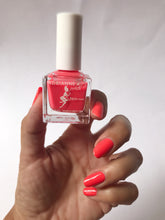 Load image into Gallery viewer, WILD ORANGE! BRIGHT ORANGE/PINK NAIL POLISH .51 FL. OZ. GLOSSY. CRUELTY FREE