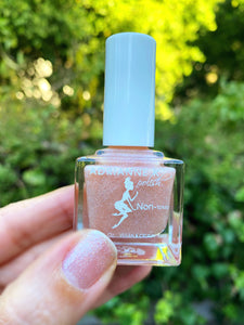 Stars! Shimmer Sheer Light Pink Nail Polish. Quick Dry. Long Lasting. Nontoxic. Vegan, .51 Fl Oz