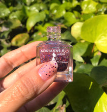Load image into Gallery viewer, PINK PARTY! ADRIANNE K PINK GLITTER NAIL POLISH. NONTOXIC. KID-SAFE. VEGAN, .51 FL OZ