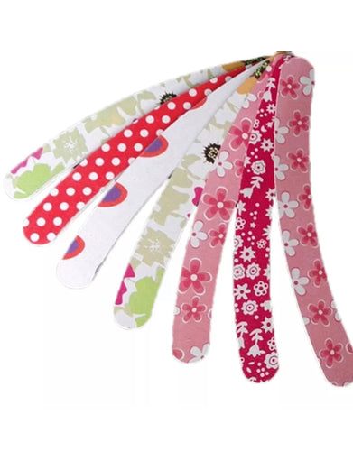 X2 Flower Print Nail Files, Buffer Finger Tips Manicure Pedicure