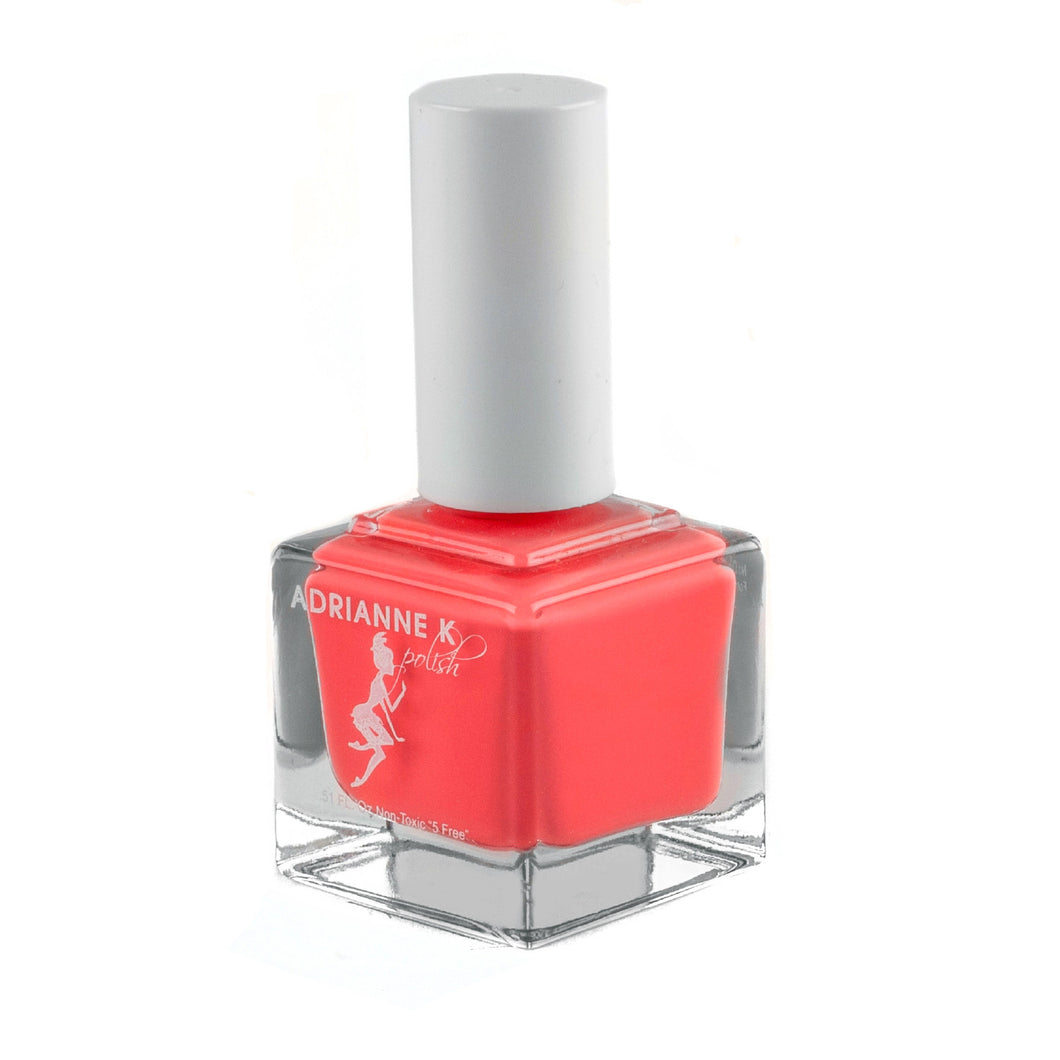 WILD ORANGE! BRIGHT ORANGE/PINK NAIL POLISH .51 FL. OZ. GLOSSY. CRUELTY FREE