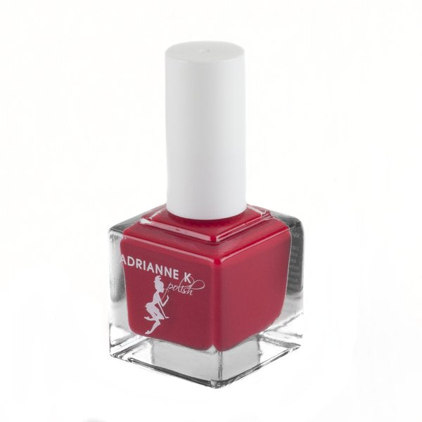 YOUR HOTNESS! GLOSSY BRIGHT RED NAIL POLISH, .51 FL OZ. HIGH SHINE. QUICK DRY. GEL EFFECT