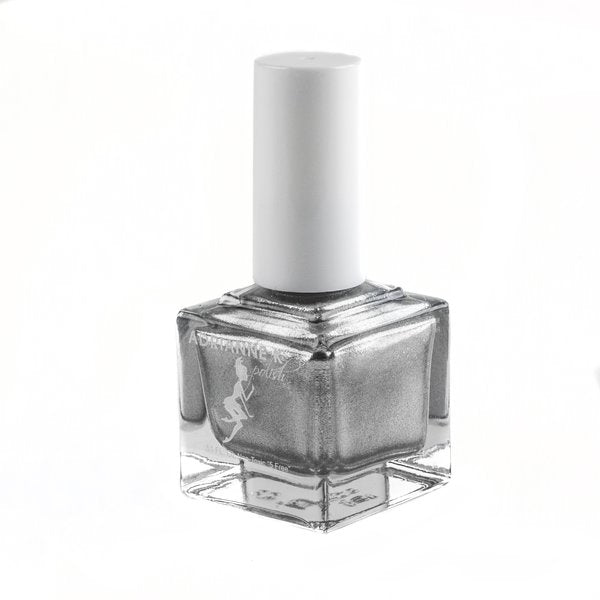 DIAMOND! ADRIANNE K METALLIC TRUE SILVER NAIL POLISH. VEGAN .51 FL OZ.
