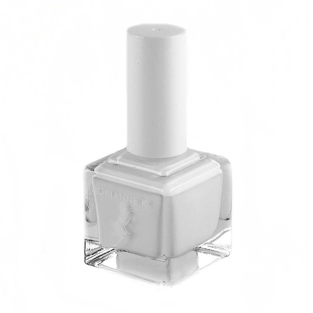WHITE LACE! GLOSSY OPAQUE FRENCH MANICURE WHITE NAIL POLISH, NONTOXIC, 10 FREE, .51 FL OZ