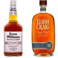 ELIJAH CRAIG 18 YEAR SINGLE BARREL EVAN WILLIAMS COLLECTOR'S SET - Wine & Spirits Delivery