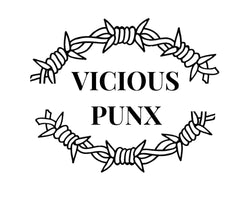 Vicious Punx Logo (text surrounded by barbed wire)
