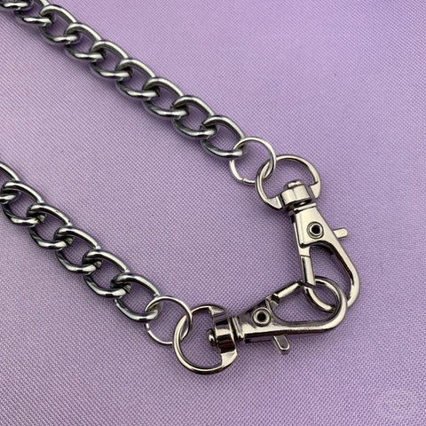 Double Clip Chain Necklace