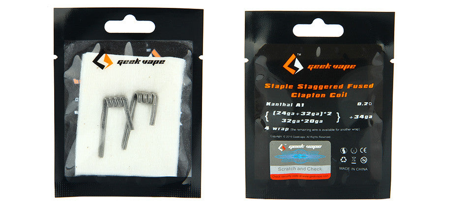 2pcs GeekVape Prebuilt Staple Staggered Fused Clapton Coil