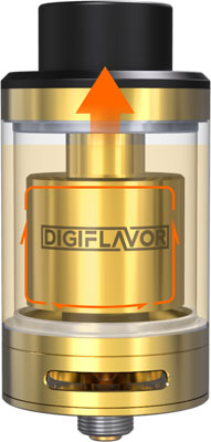 Clearance! DIGIFLAVOR Fuji GTA Re-Buildable Tank GOLD