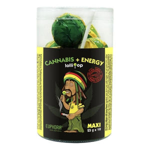 Euphoria Cannabis + Energy Maxi Lollipops 25g x 10pcs