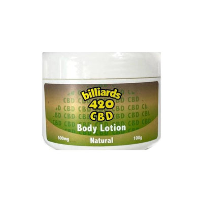 Billiards 420 CBD Body Oil Body Lotion 500MG 100G